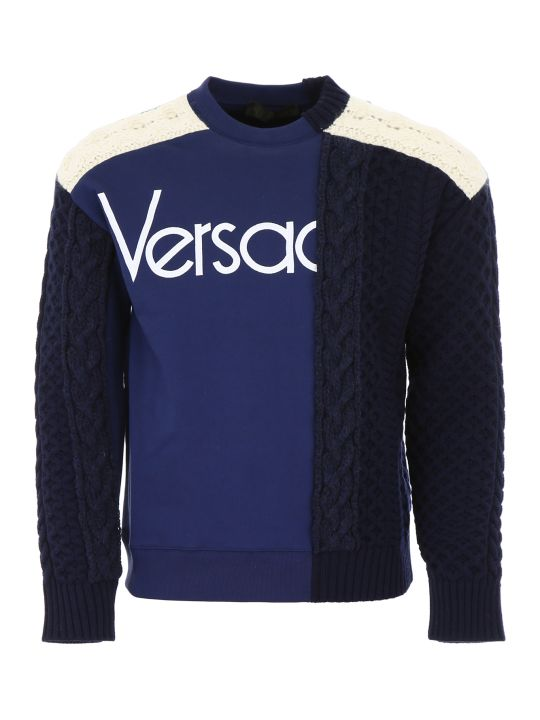 Versace Knit And Jersey Top