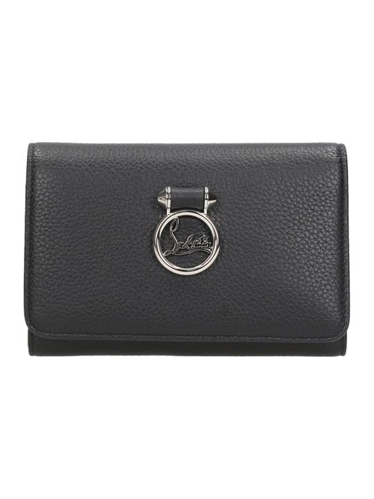 Christian Louboutin Black Leather Rubylou Wallet