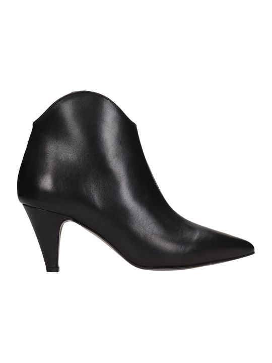 Rebecca Minkoff Black Leather Ankle Boots
