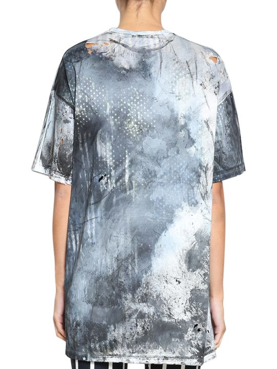 Balmain Oversized Distressed Cotton T-shirt - Multicolor - 10506047 ...