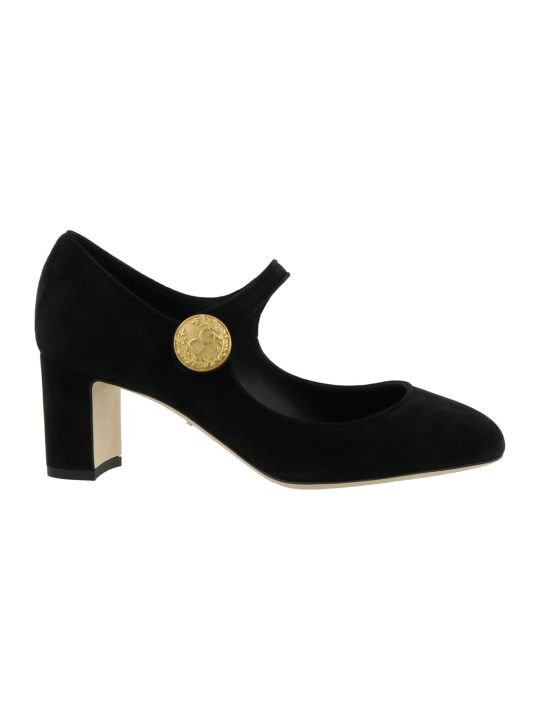 Dolce & Gabbana Mary Jane Suede Pump