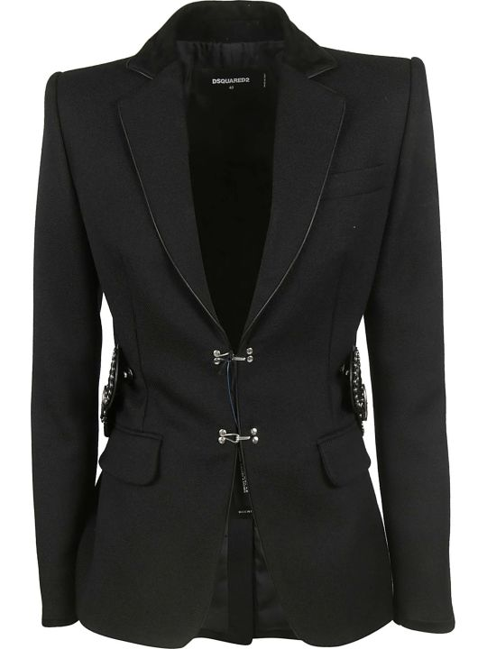 Dsquared2 Embellished Buckle Blazer