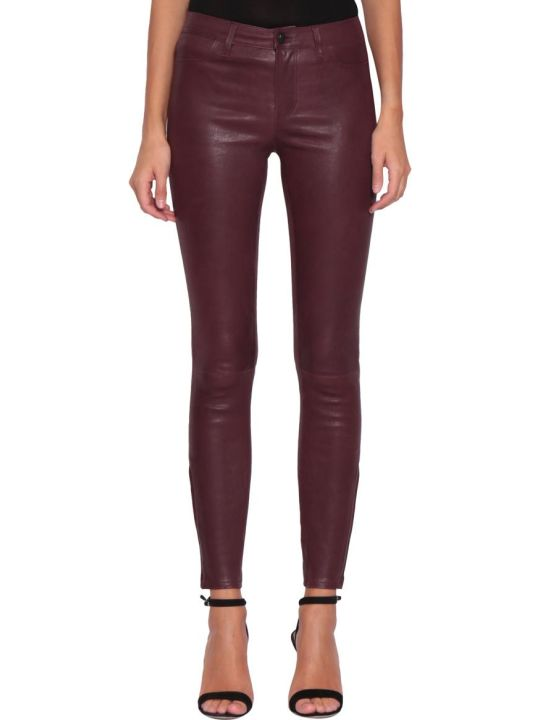 J Brand Leather Jeans