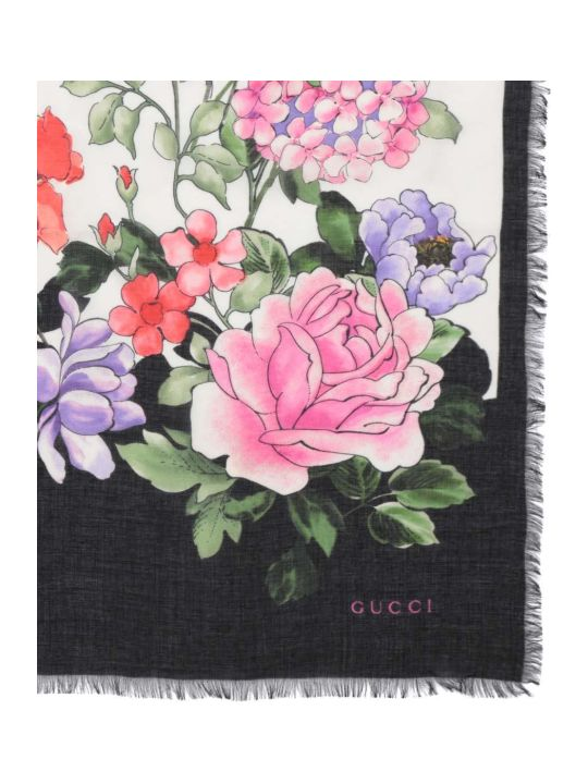 Gucci Floral Silk Scarf