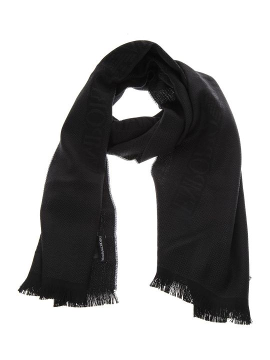 Emporio Armani Anthracite Wool Scarf