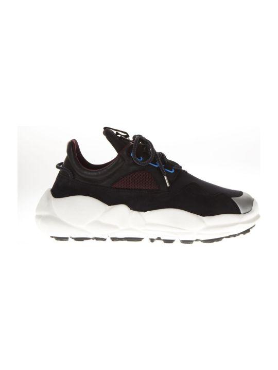 Versus Versace Anatomia Runner Black Elastic & Leather Sneaker
