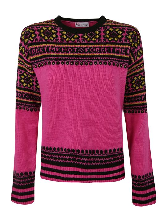 RED Valentino Intarsia Knitted Sweater