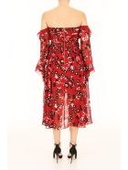 self-portrait Floral Print Midi Dress - RED|Rosso