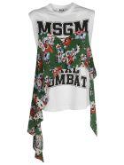 MSGM Ruffled Detail T-shirt