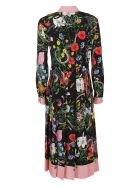 Gucci Floral Snake Print Dress