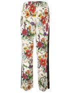 Gucci Floral Snake Print Trousers