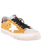 Golden Goose Sneakers May - Gold Leather/bordeaux