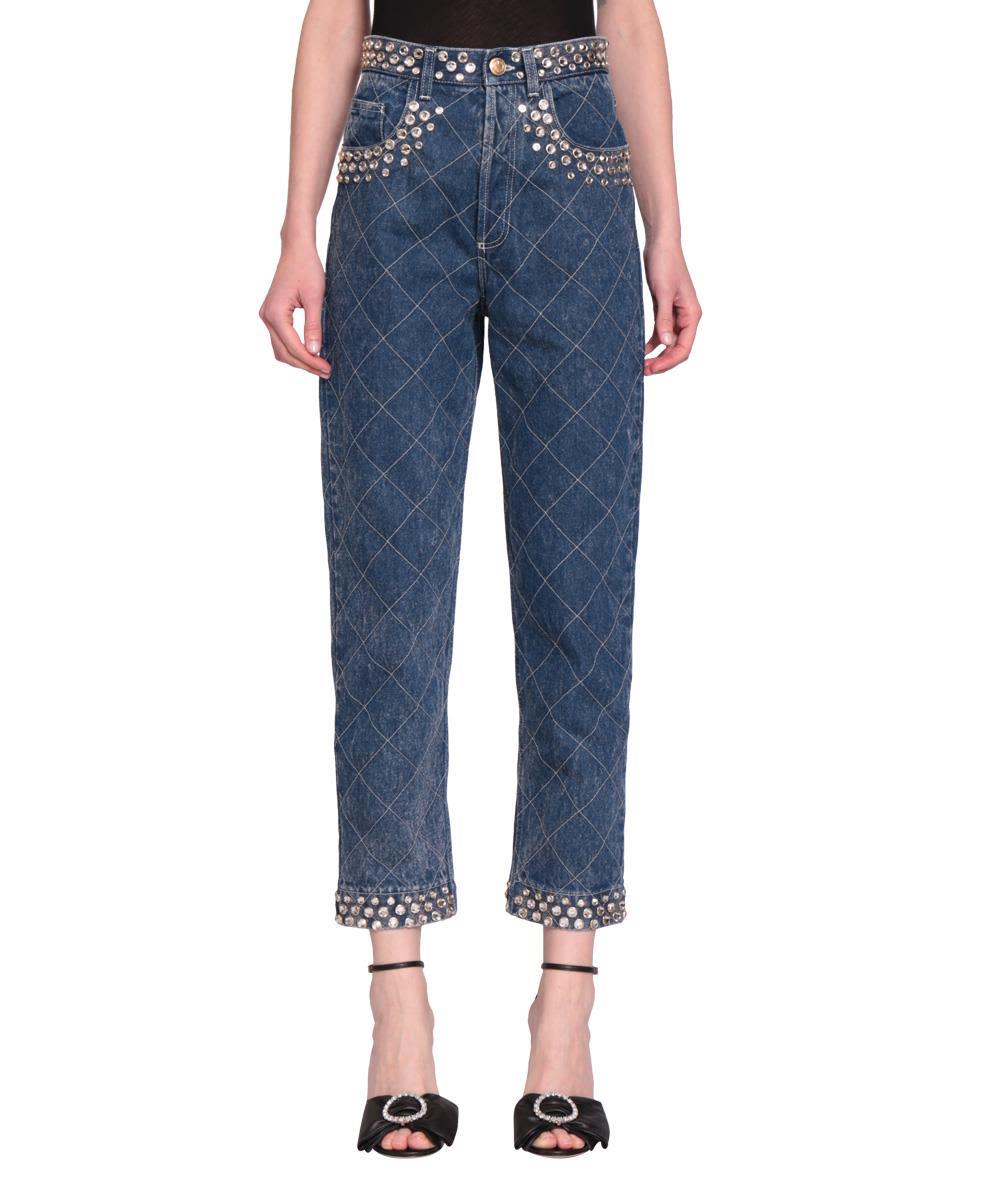 Gucci Jeans Denim Di Cotone Con Cristalli 10607941
