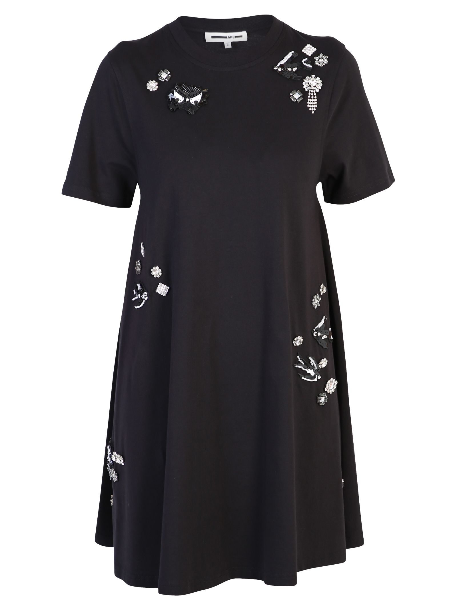 Mcq By Alexander Mcqueen Dresses BLACK SHINY DETAILED DRESS