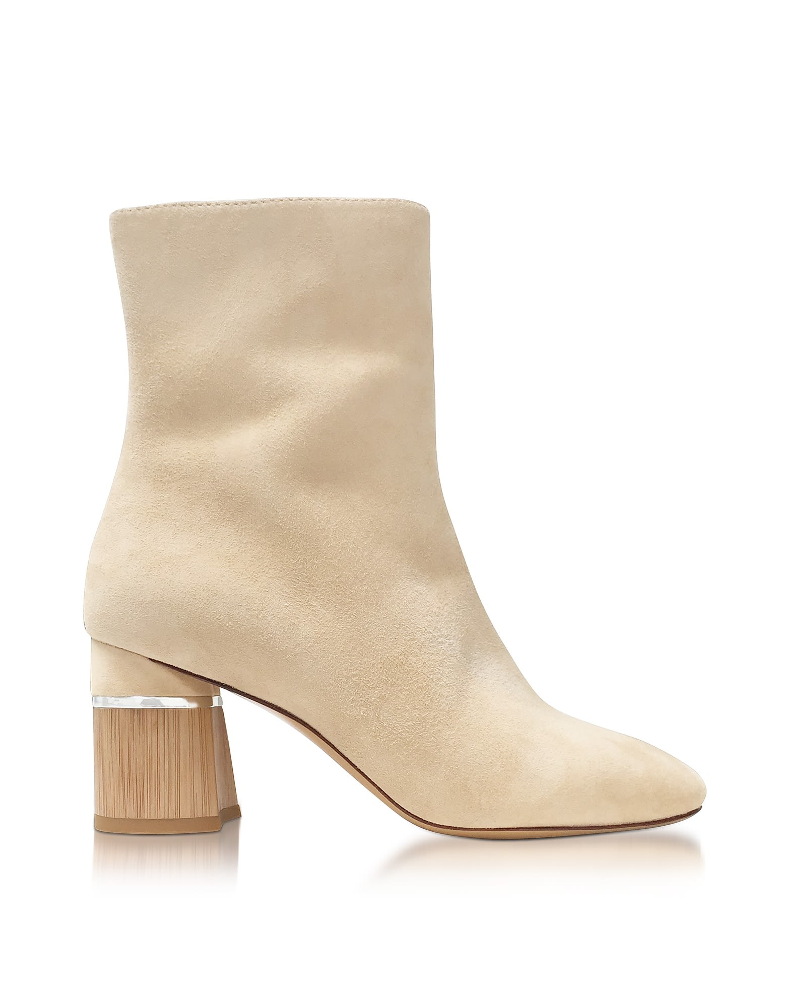 3.1 Phillip Lim Drum Ecru Suede Heel Ankle Boots 10591011
