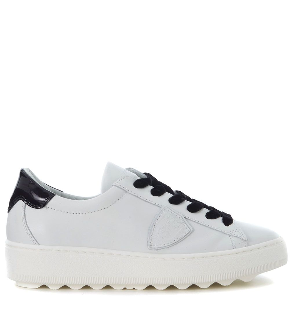 Philippe Model Madeleine Black And White Leather Sneaker