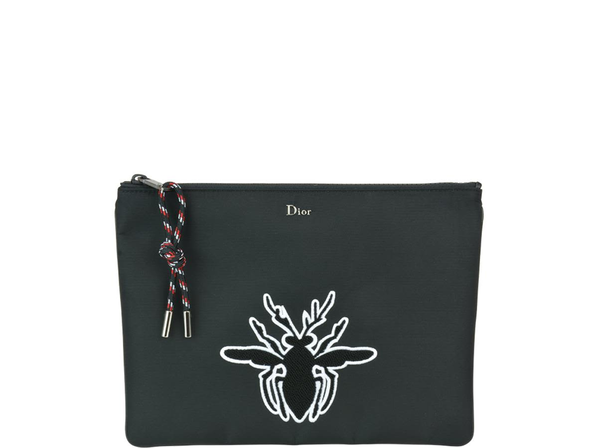DIOR POCHETTE WITH BEE PATCH DETAIL