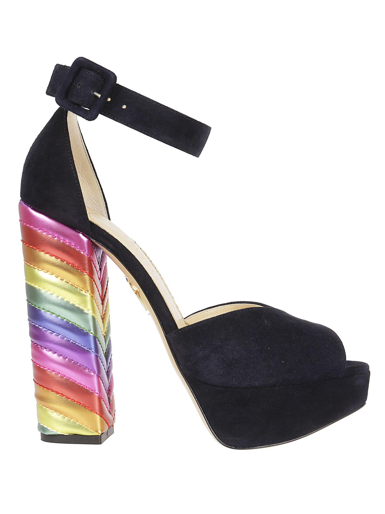 Charlotte Olympia Eugenie Rainbow Heel Sandals