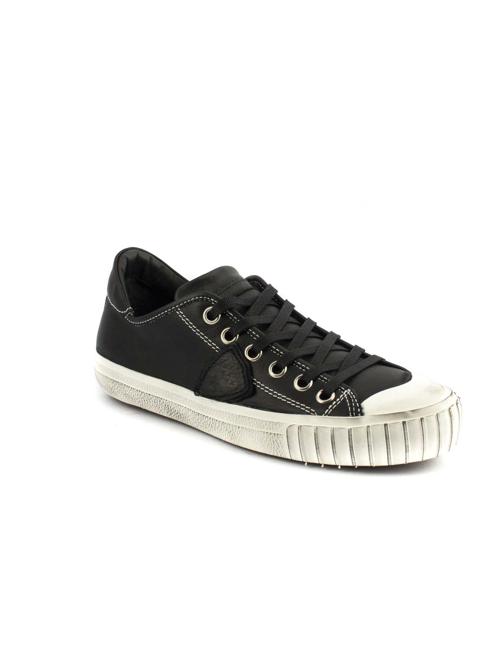 Sneaker En Cuir Noir Gare j0kevKl