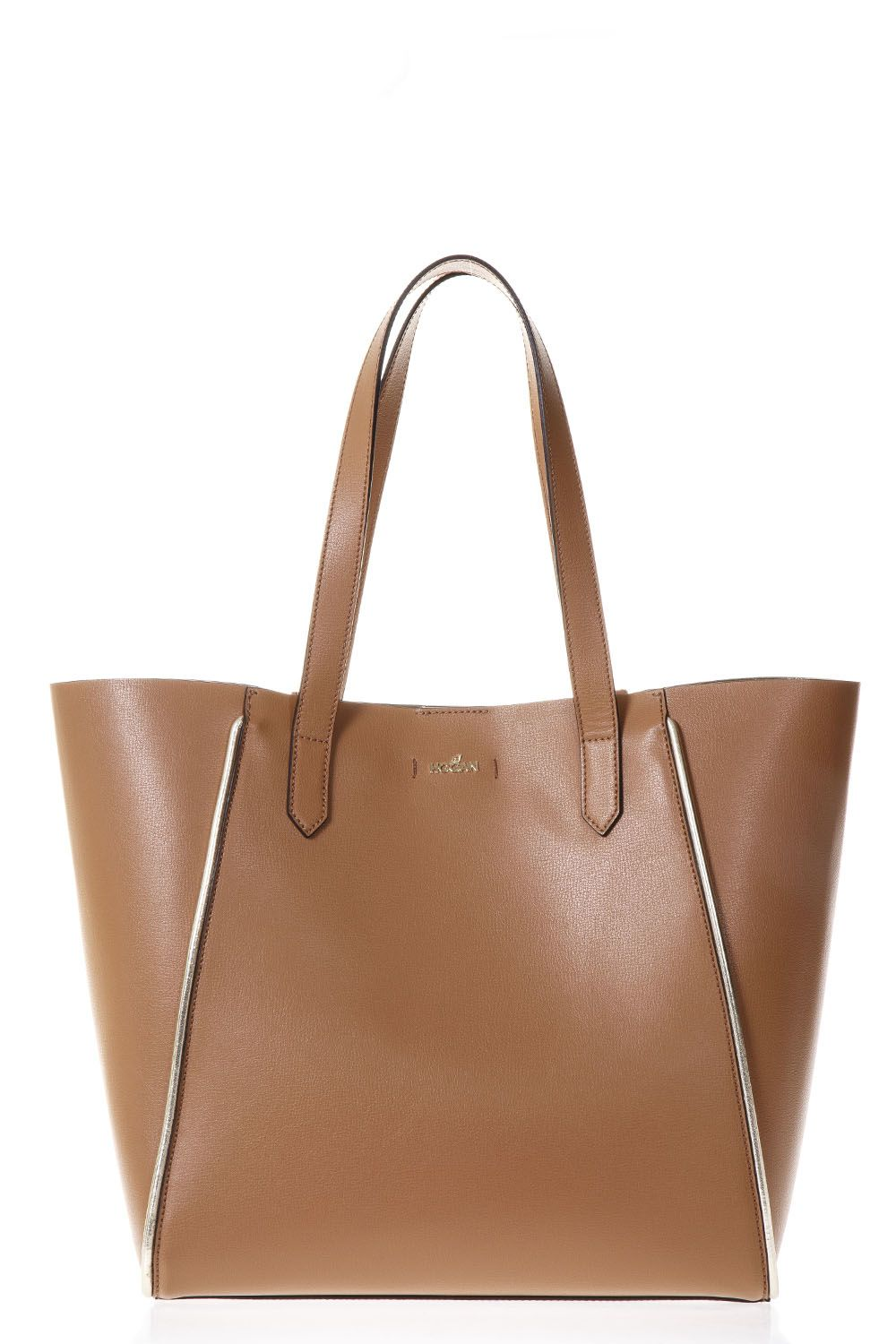 Hogan Tote Bag On Sale, Leather Brown, Leather, 2017, one size