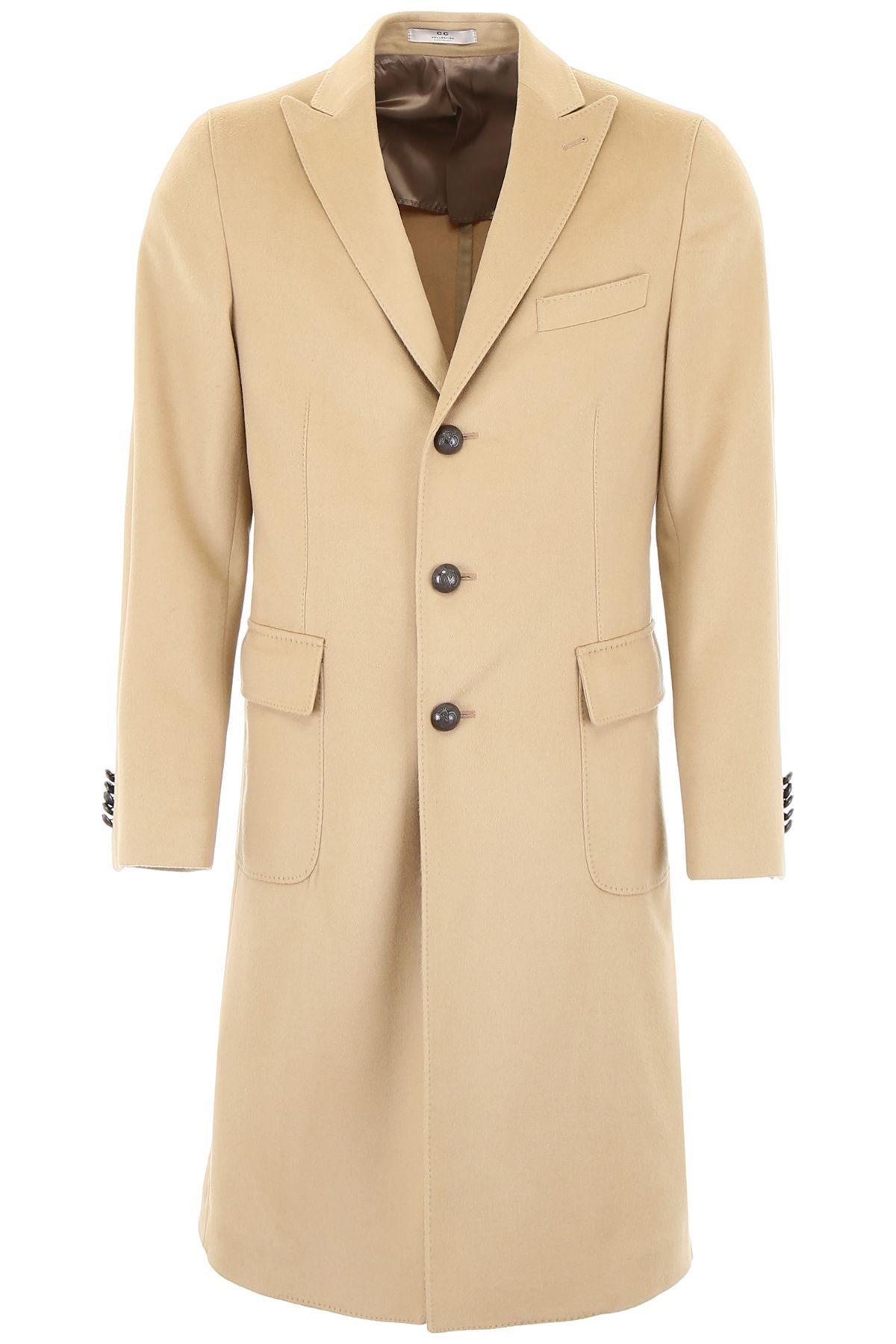 CC COLLECTION CORNELIANI Wool Coat in Beige