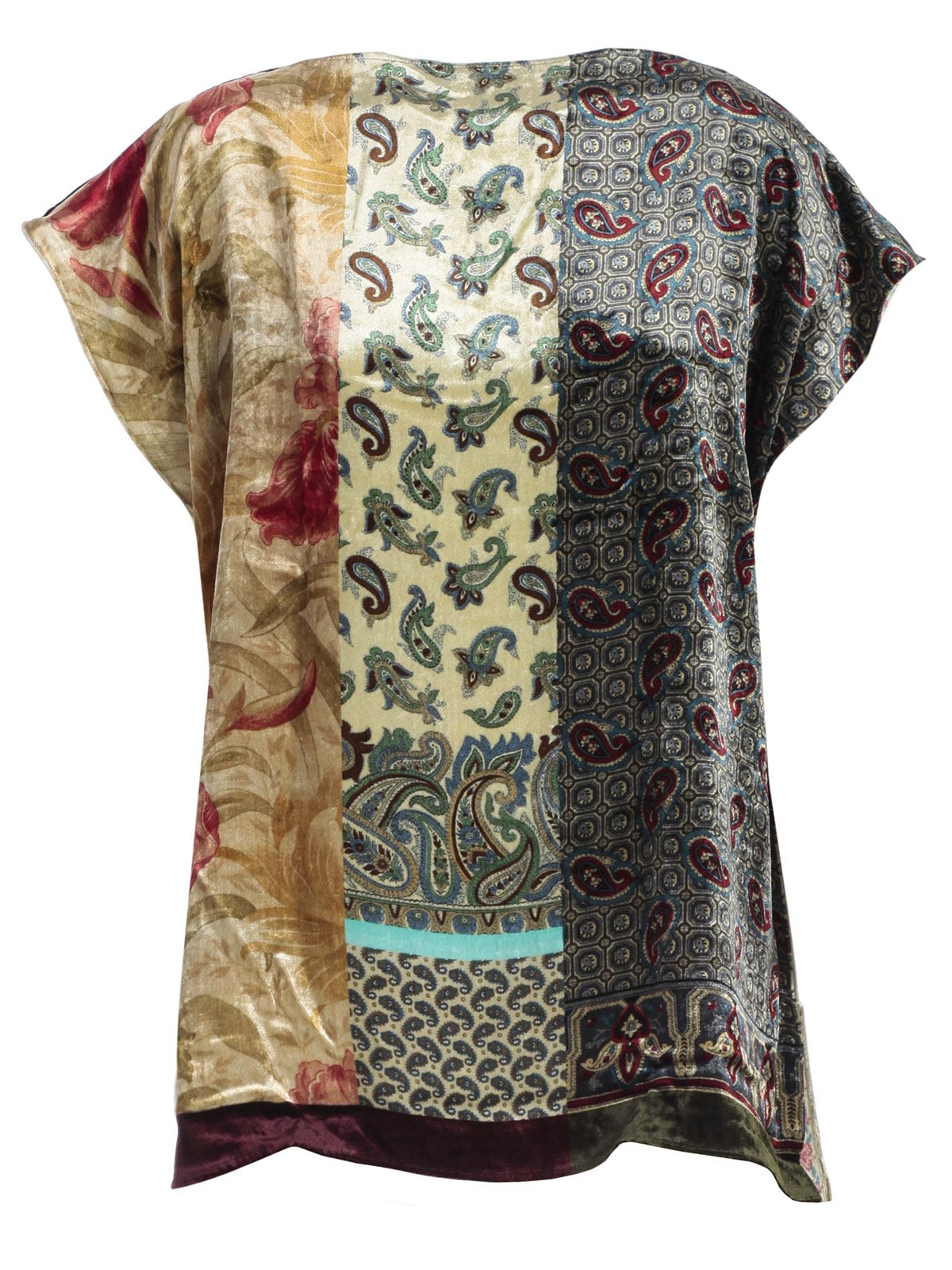 Pierre Louis Mascia' Multiple Paisley And Floral Print Top in Neutrals