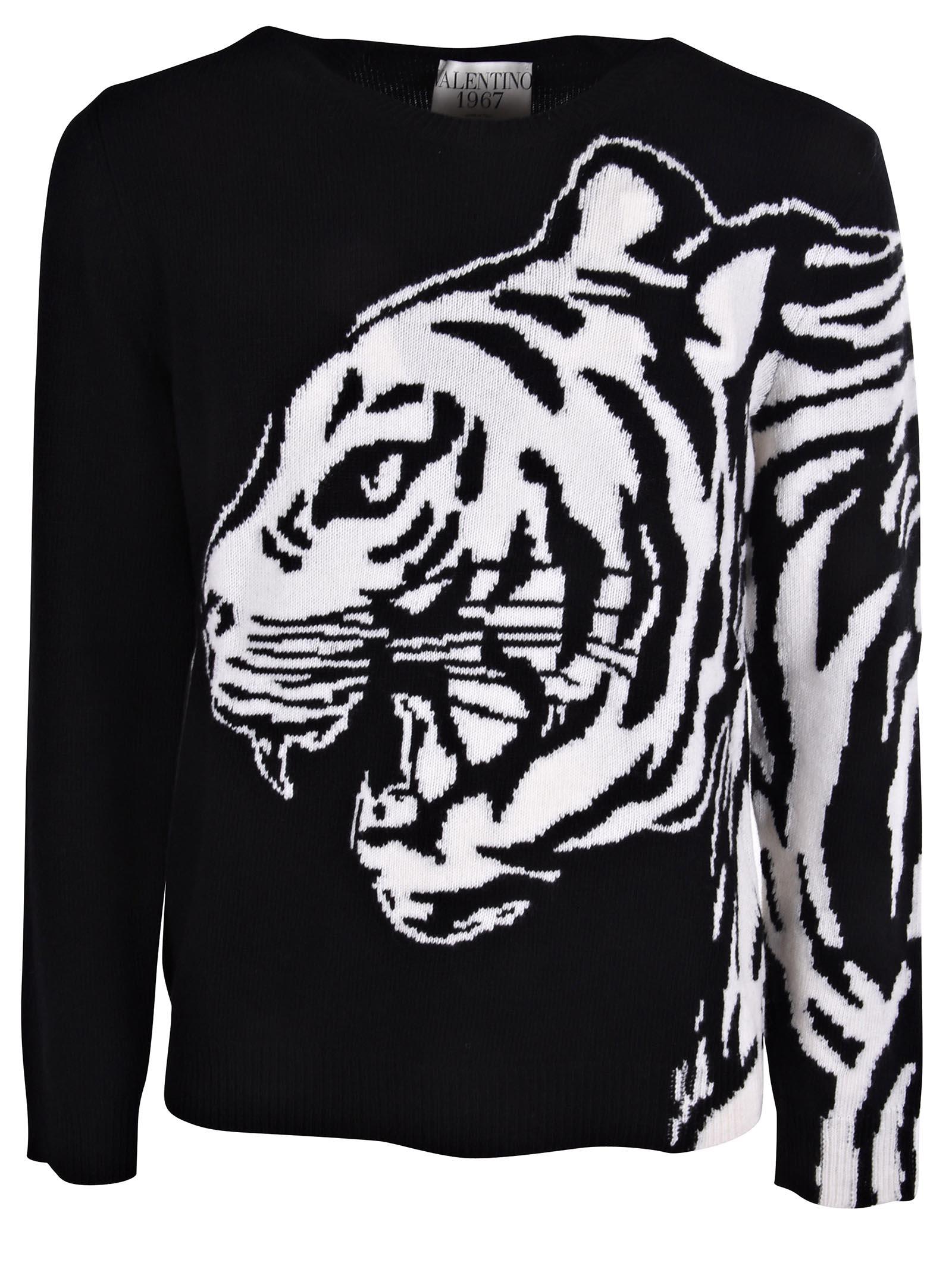 Valentino Tiger Intarsia Sweater