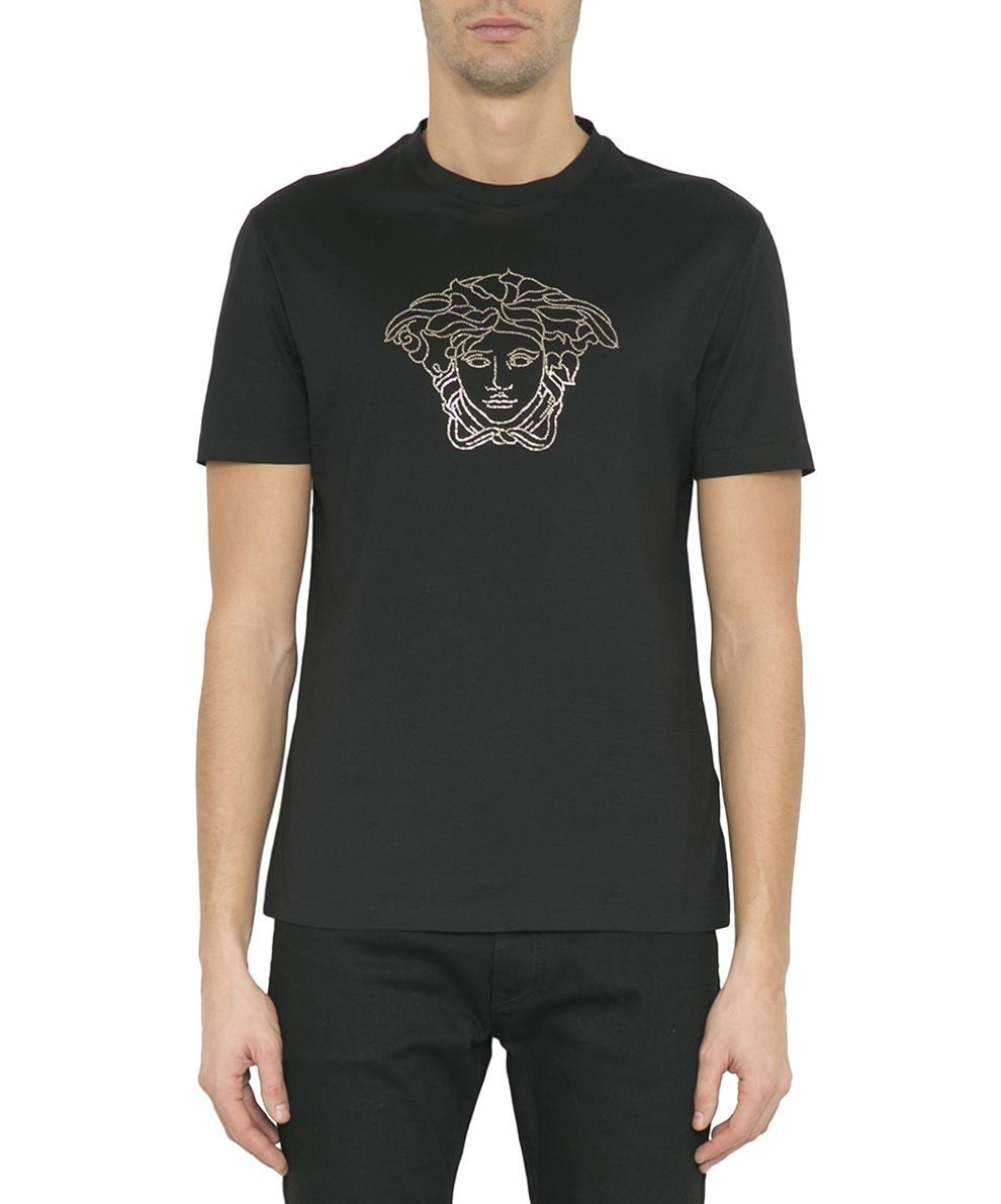 BLACK COTTON MEDUSA T-SHIRT