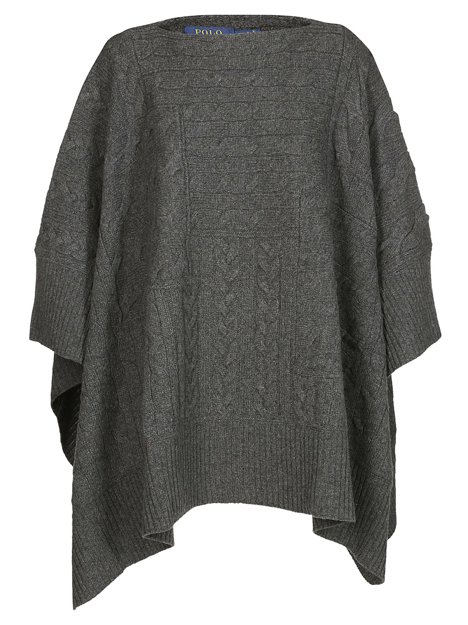 Knitted Cape, Grey
