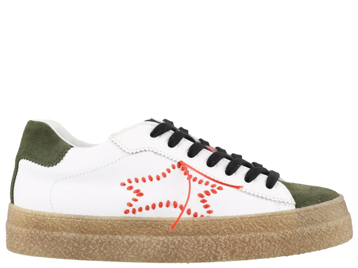 ISHIKAWA Sneakers in White Green