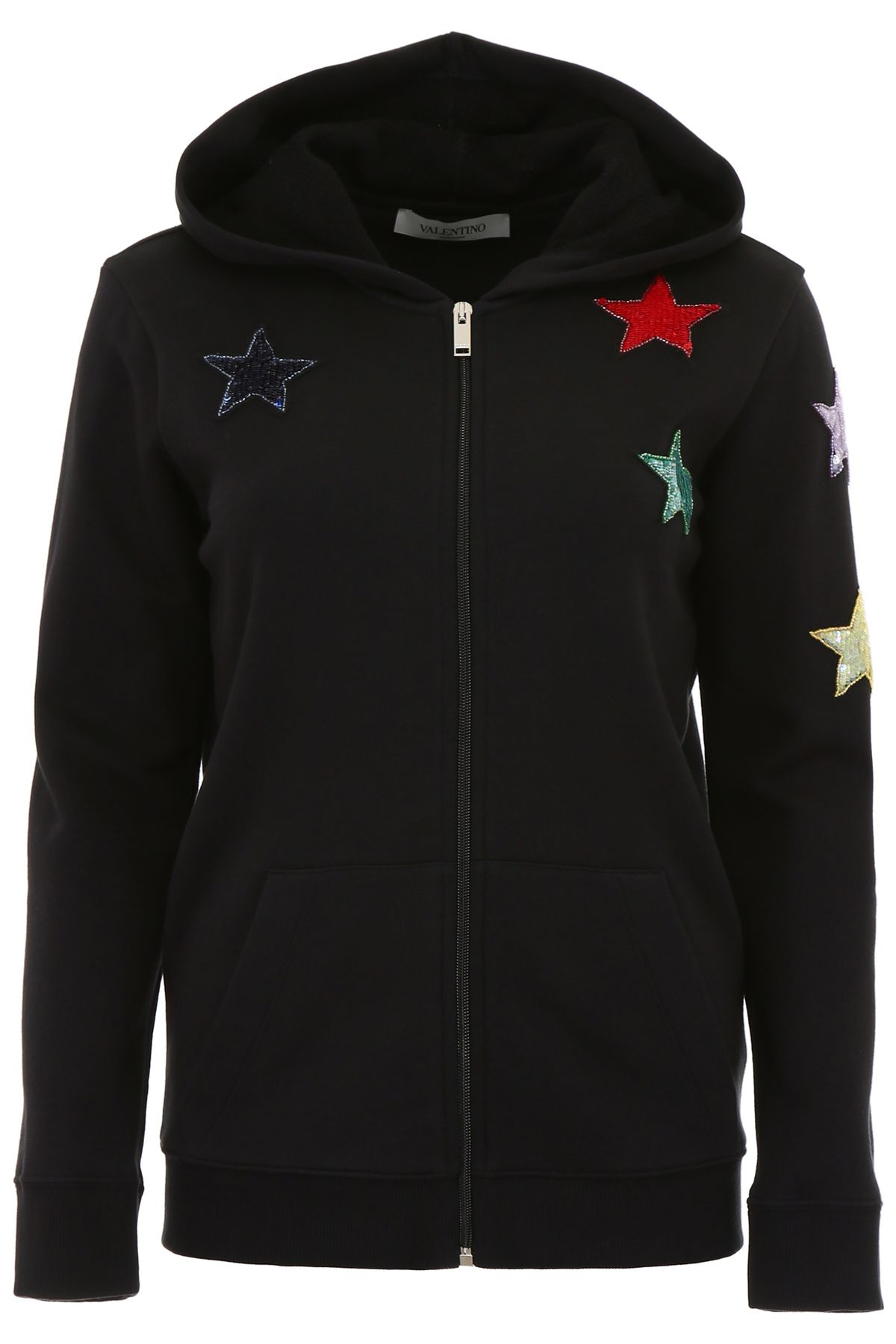 HOODIE WITH STAR PATCHES