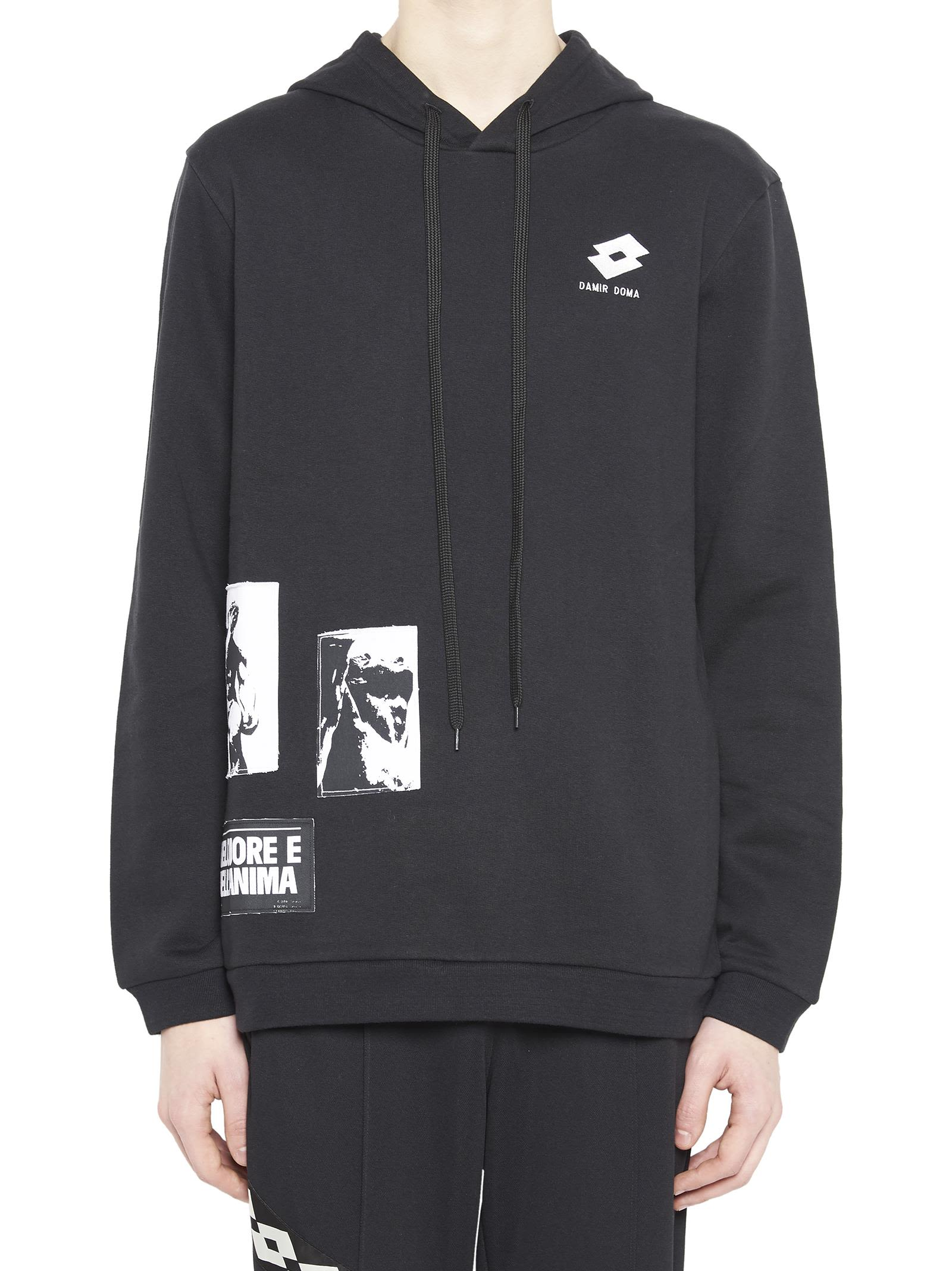 DAMIR DOMA - LOTTO Damir Doma / Lotto Hoodie in Black
