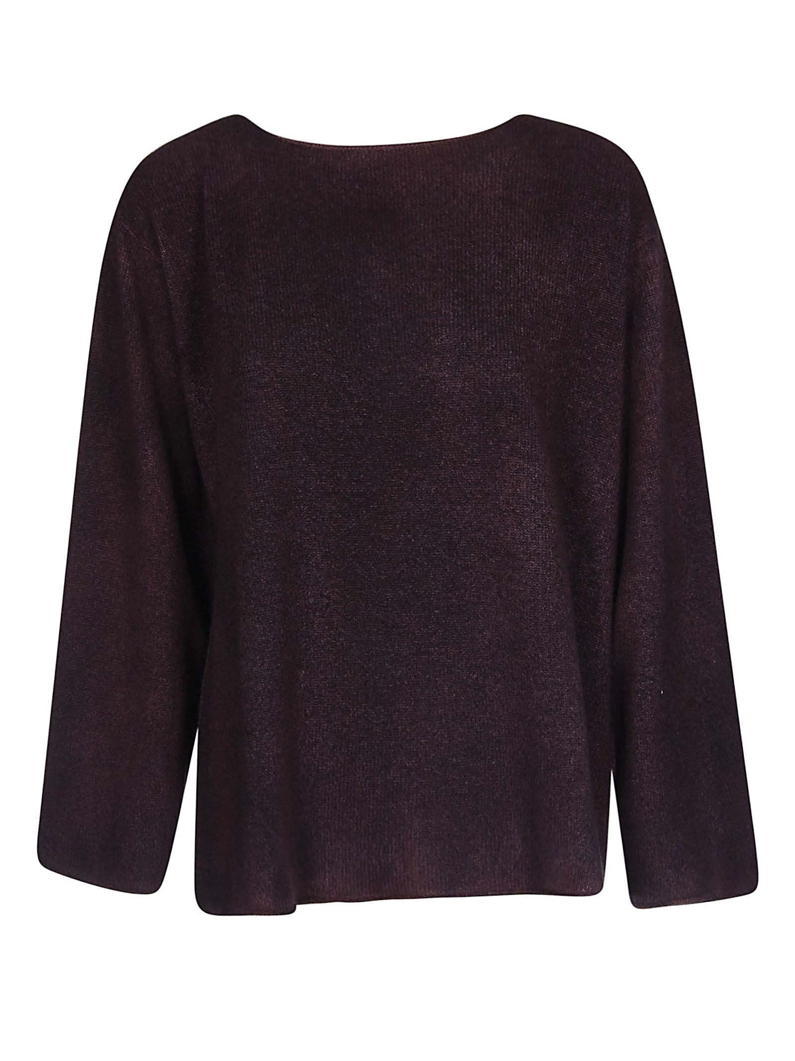 F CASHMERE F Cashmere Knitted Sweater in Plum