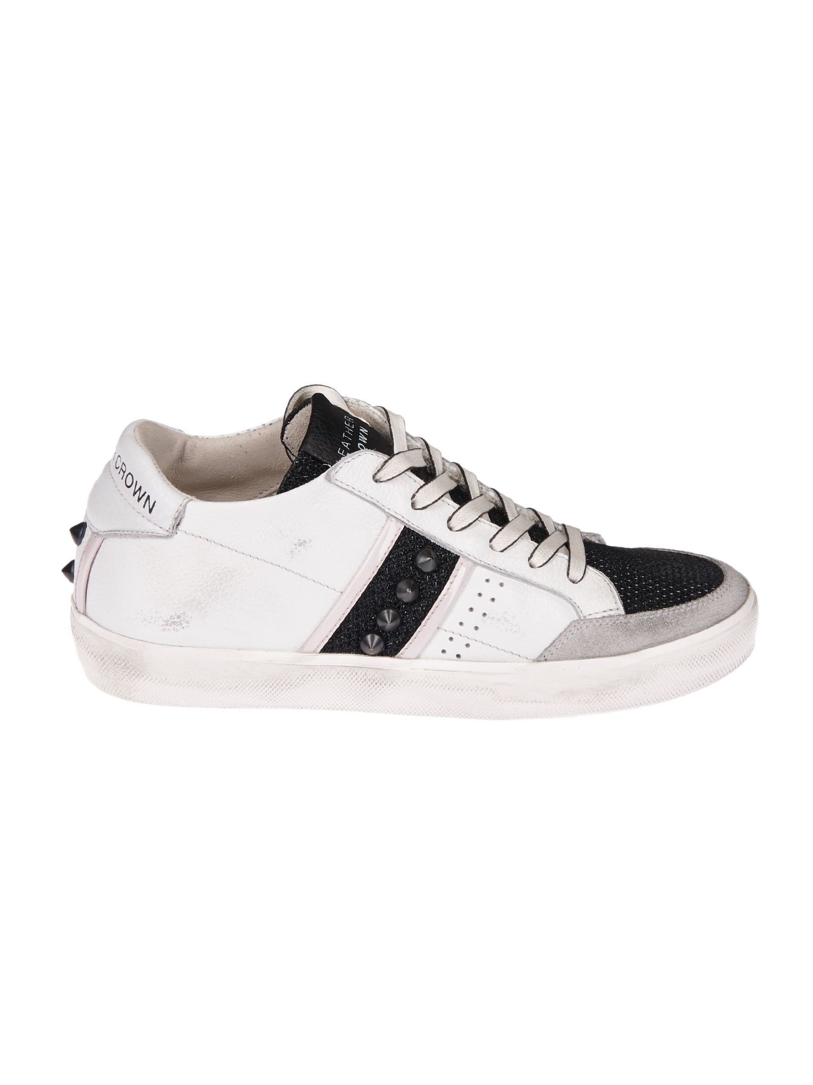stud panelled sneakers - White Leather Crown nBZjAoxVrW