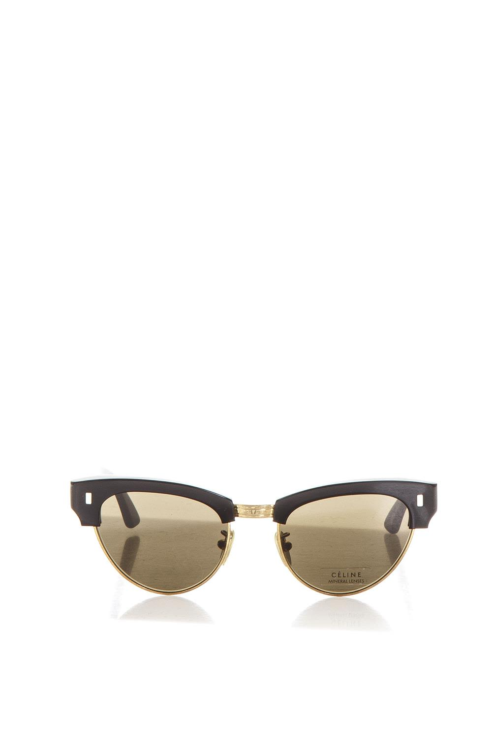 CELINE ROUND SUNGLASSES IN ACETATE WITH MINERAL GLASS LENSES