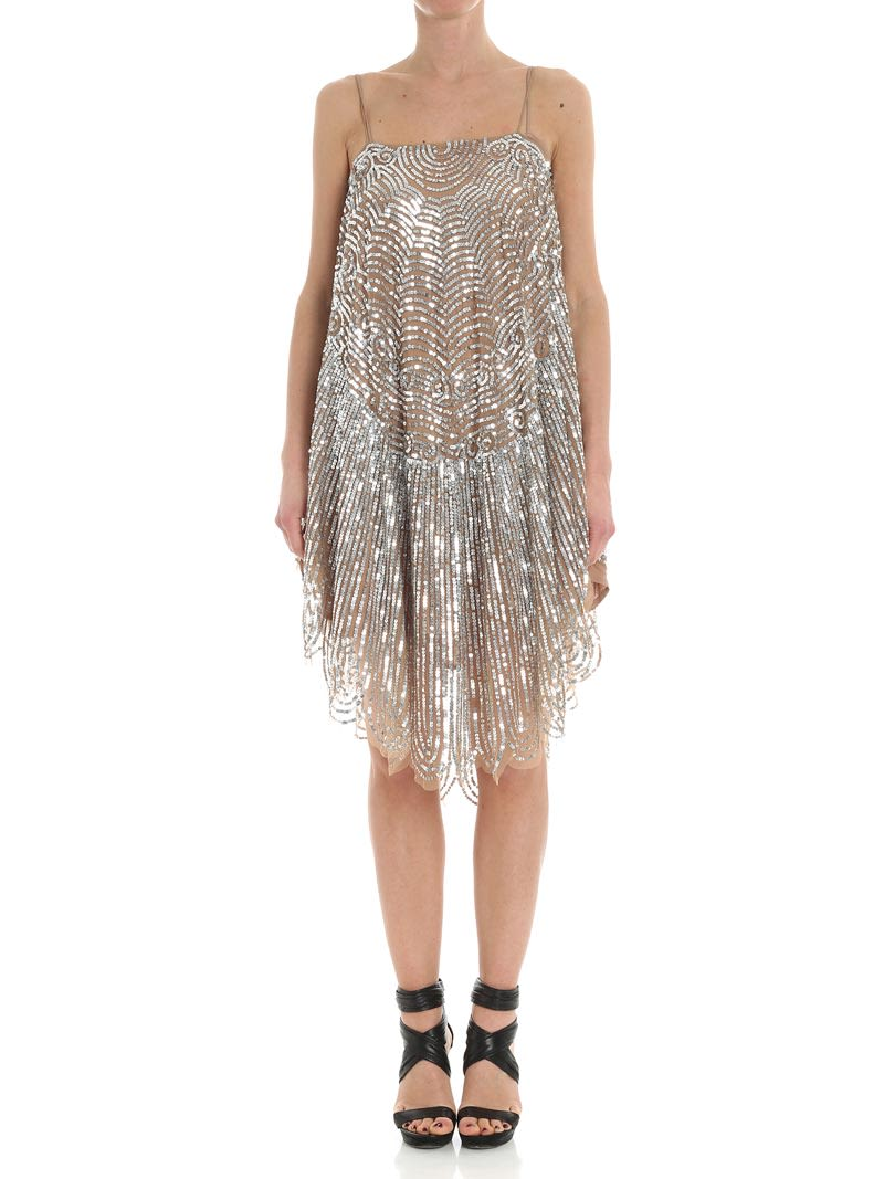 twinset -  Viscose Dress With Sequins