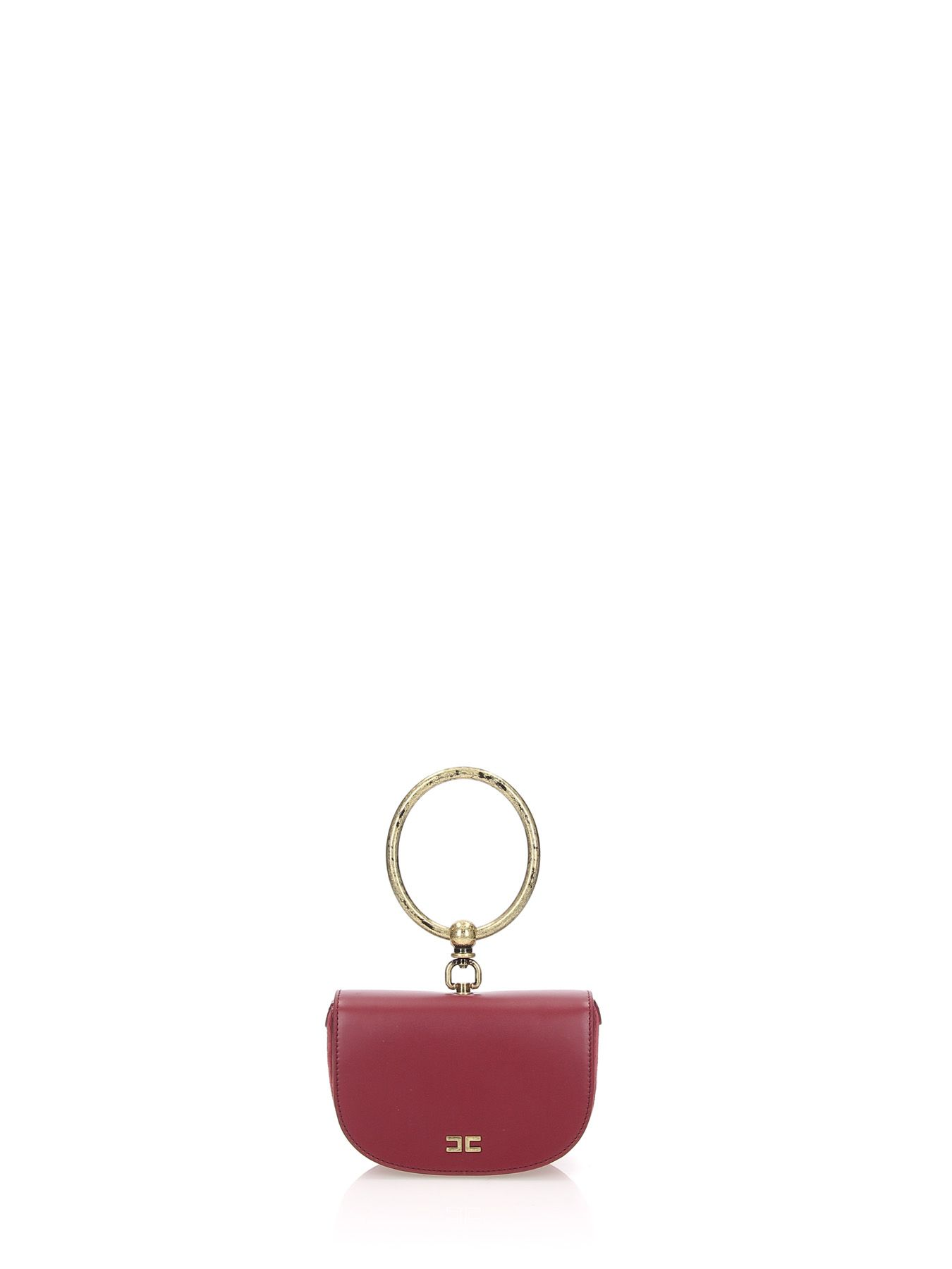 Ring Handle Bag in Red