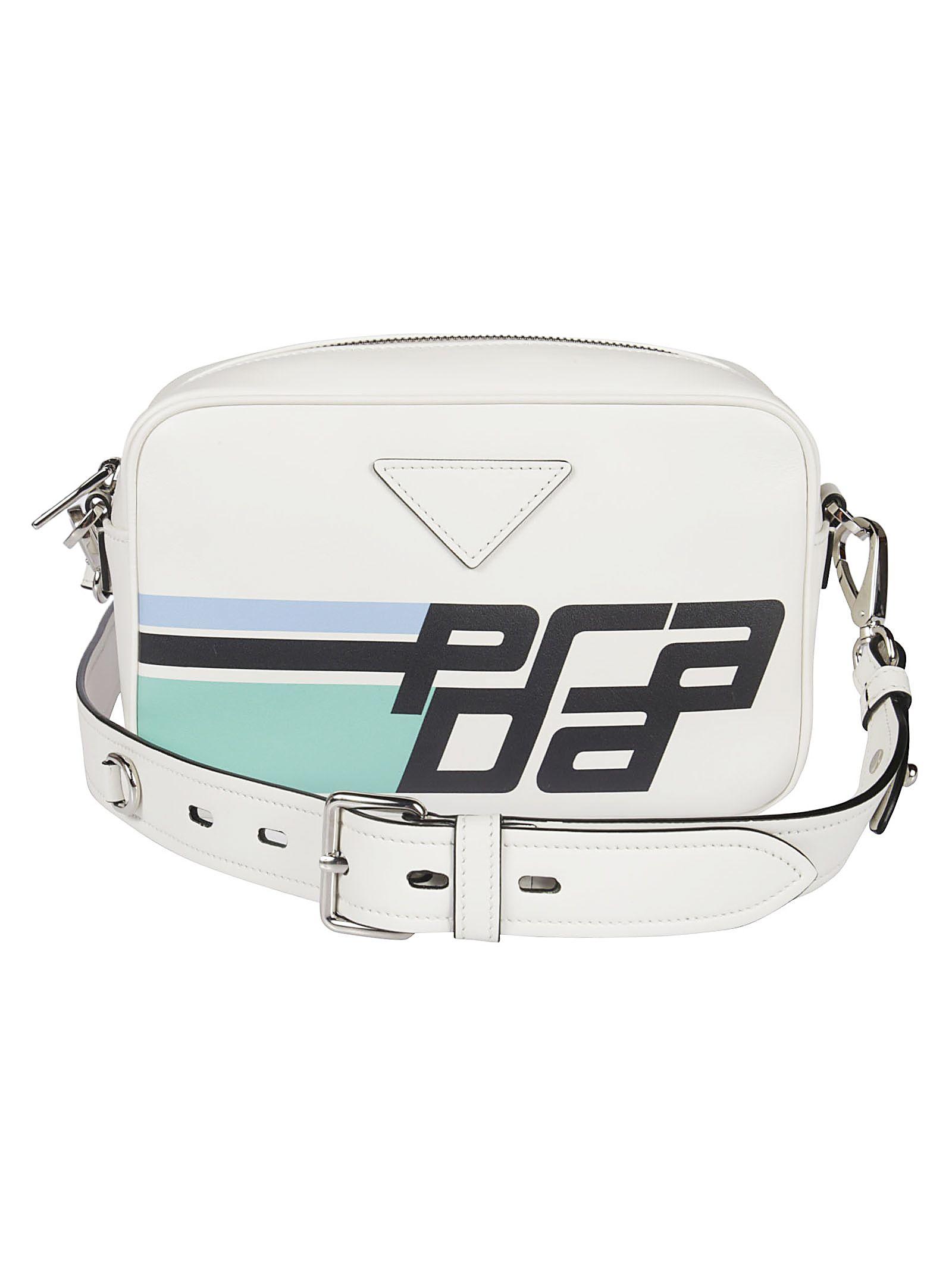 Prada Logo Print Shoulder Bag