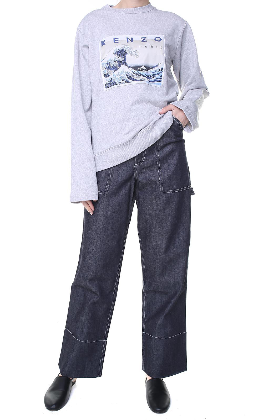 Kenzo High-rise Cotton-denim Carpenter Jeans 10576018