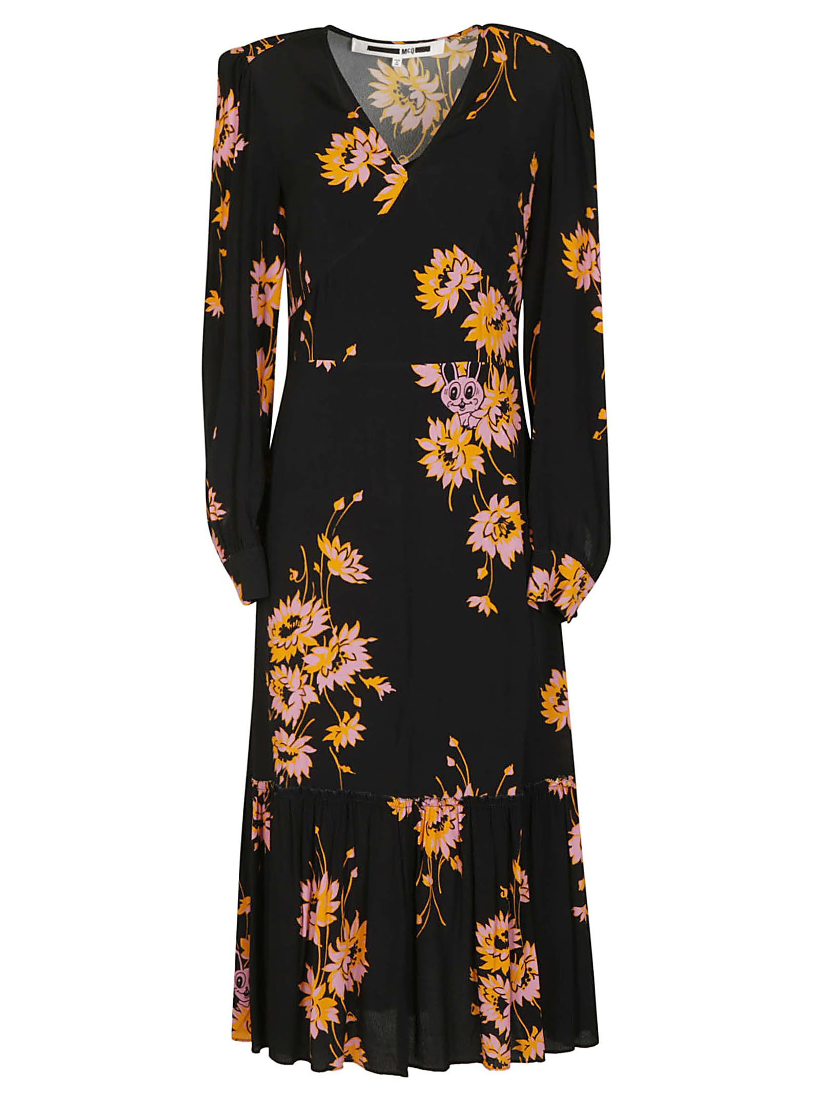 Mcq Alexander Mcqueen Floral Flared Dress