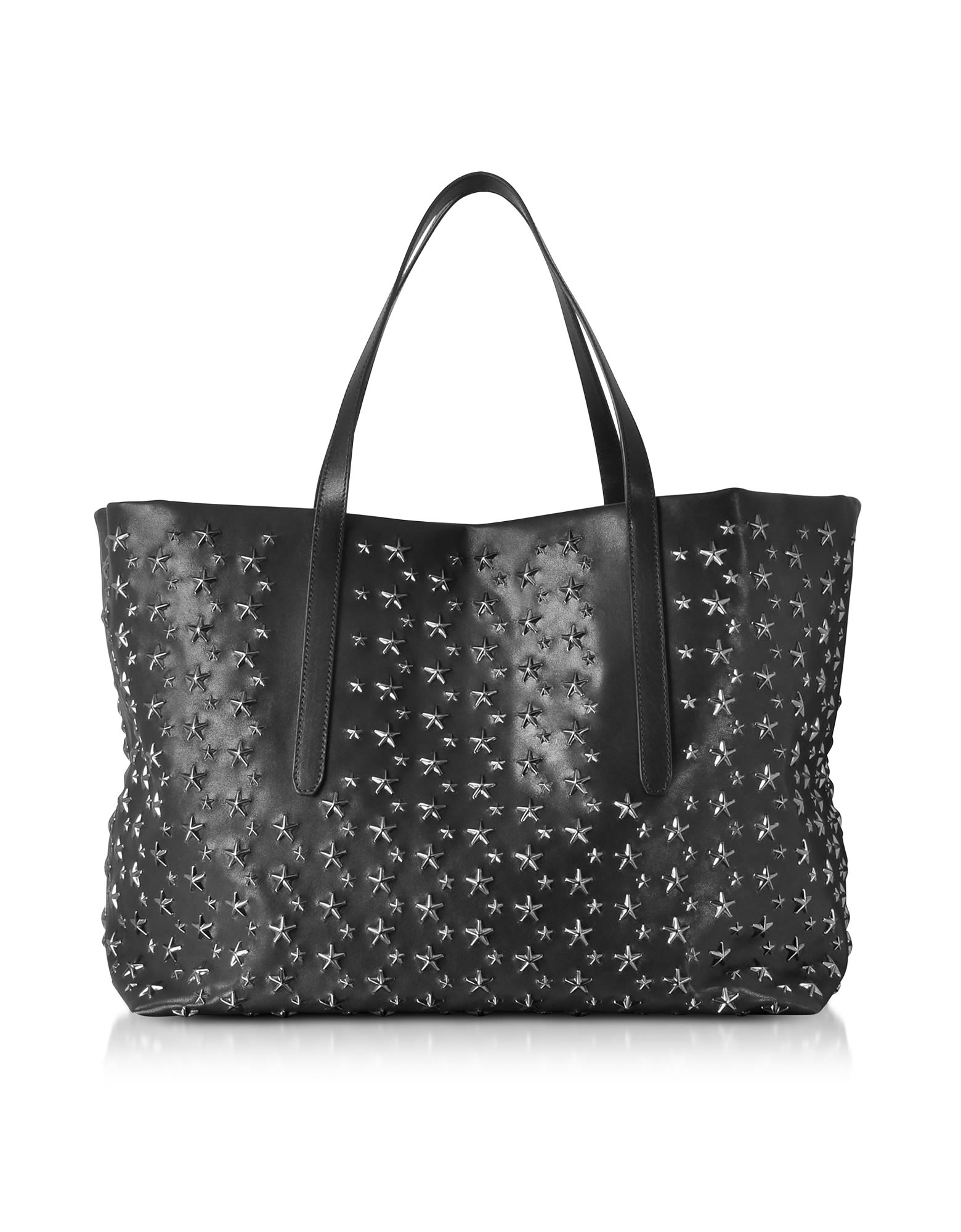 BLACK STARS STUDDED LEATHER PIMLICO LARGE TOTE BAG