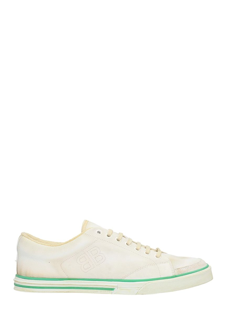 BALENCIAGA MATCH WHITE LEATHER SNEAKERS