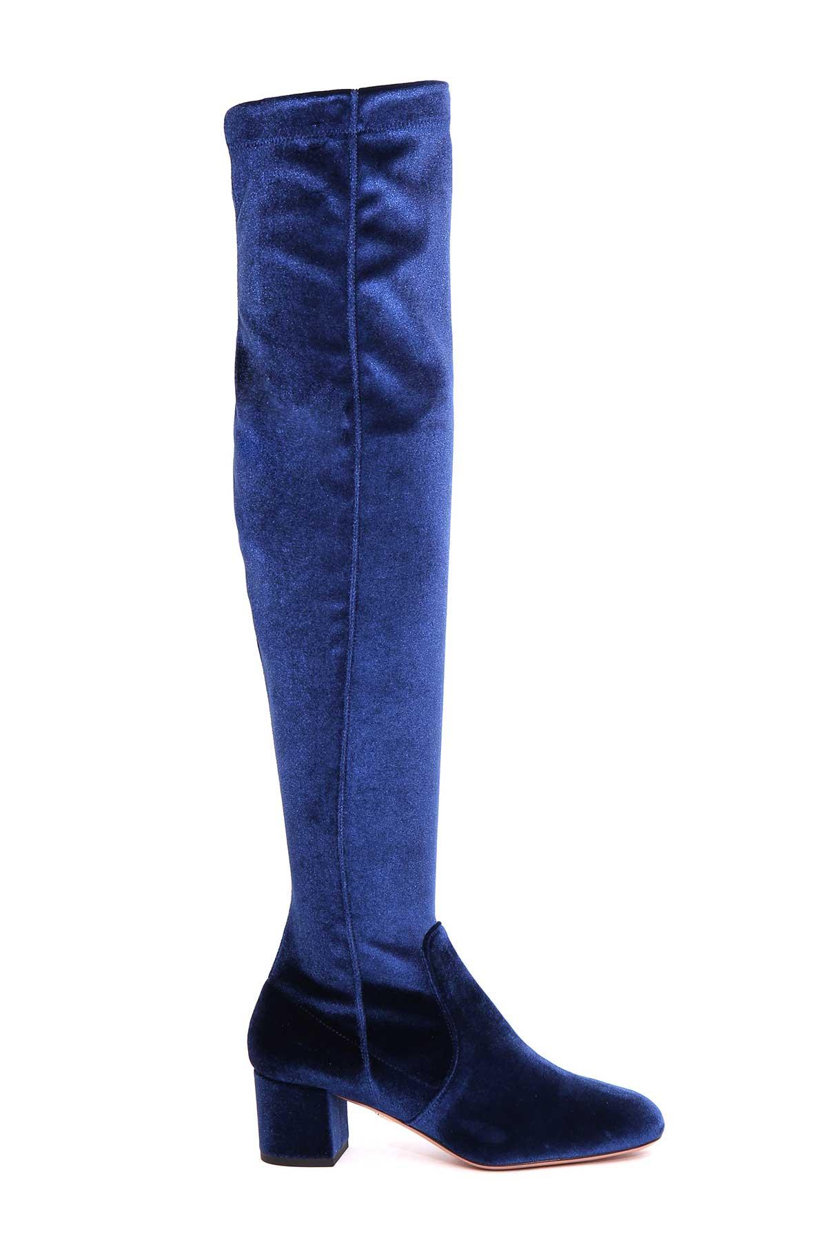 Aquazzura Essence Velvet Boot 8953066