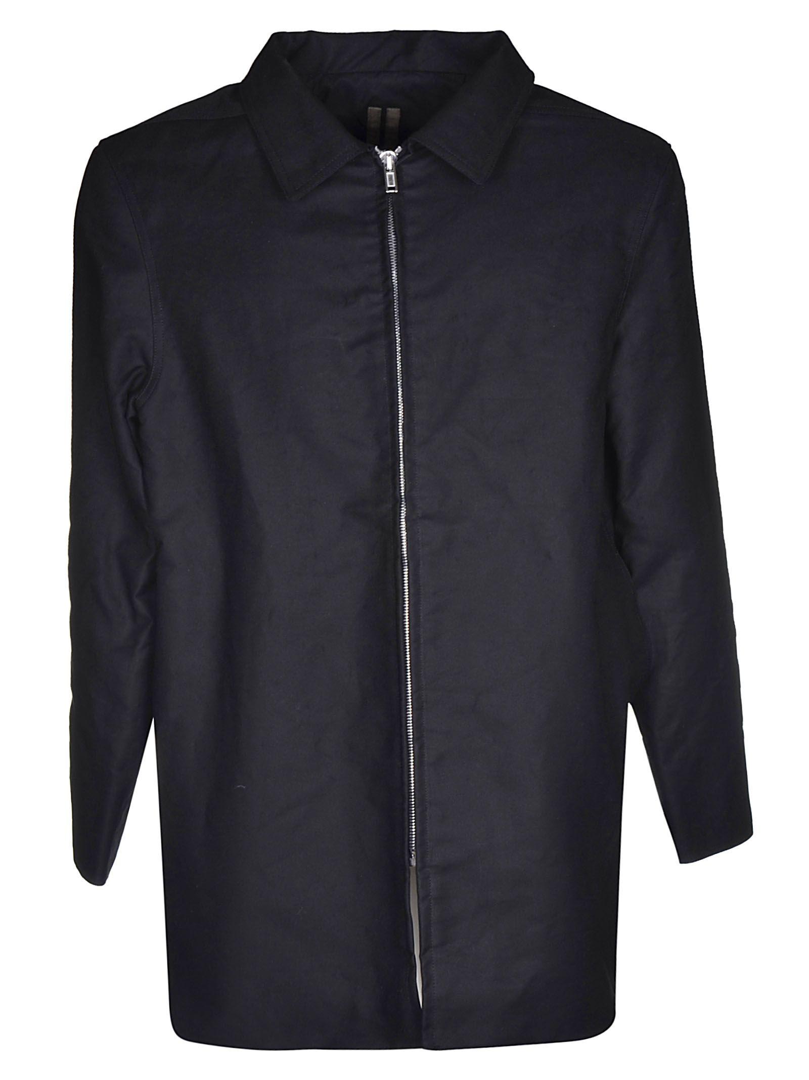 DRKSHDW Drkshdw Zipped Shirt Coat in Black