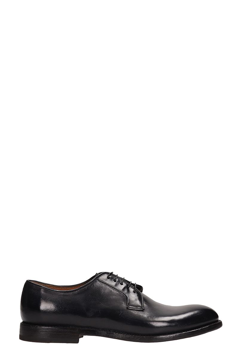 FRANCESCHETTI Lace-Up Shoes In Black Brushed Leather