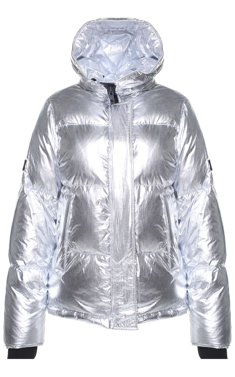 kenzo -  Hooded Metallic Puffer Jacket