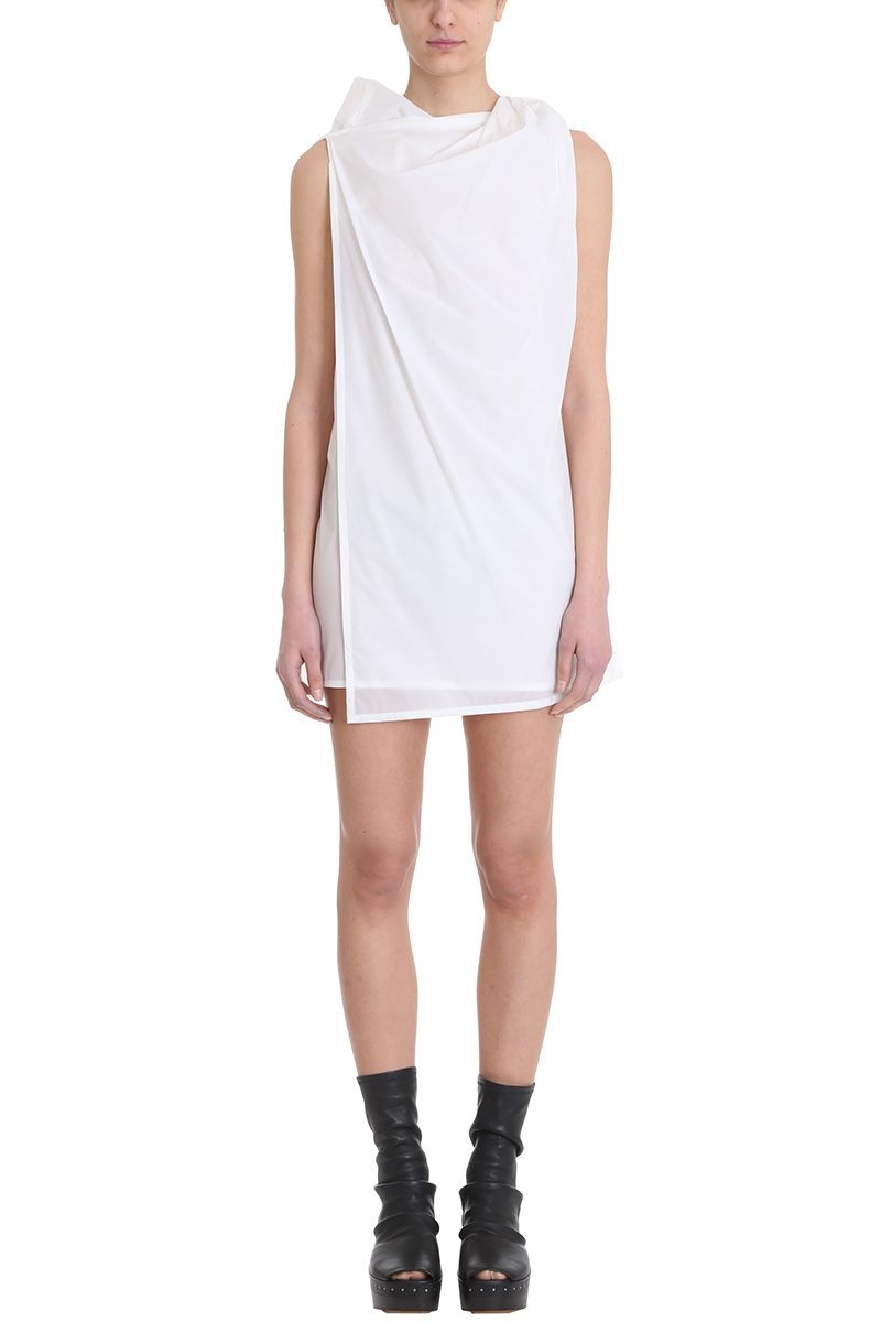 Free Shipping For Cheap Free Shipping Reliable gathered neck shift dress - White Rick Owens New And Fashion wg3dkNE