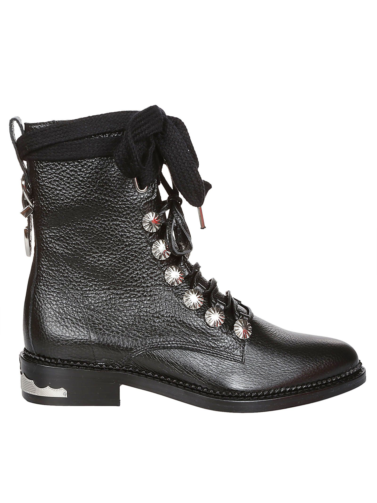 Toga STUDDED LACE UP BOOTS