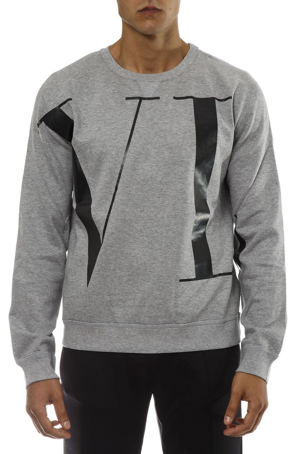 VALENTINO VLTN GREY COTTON SWEATSHIRT