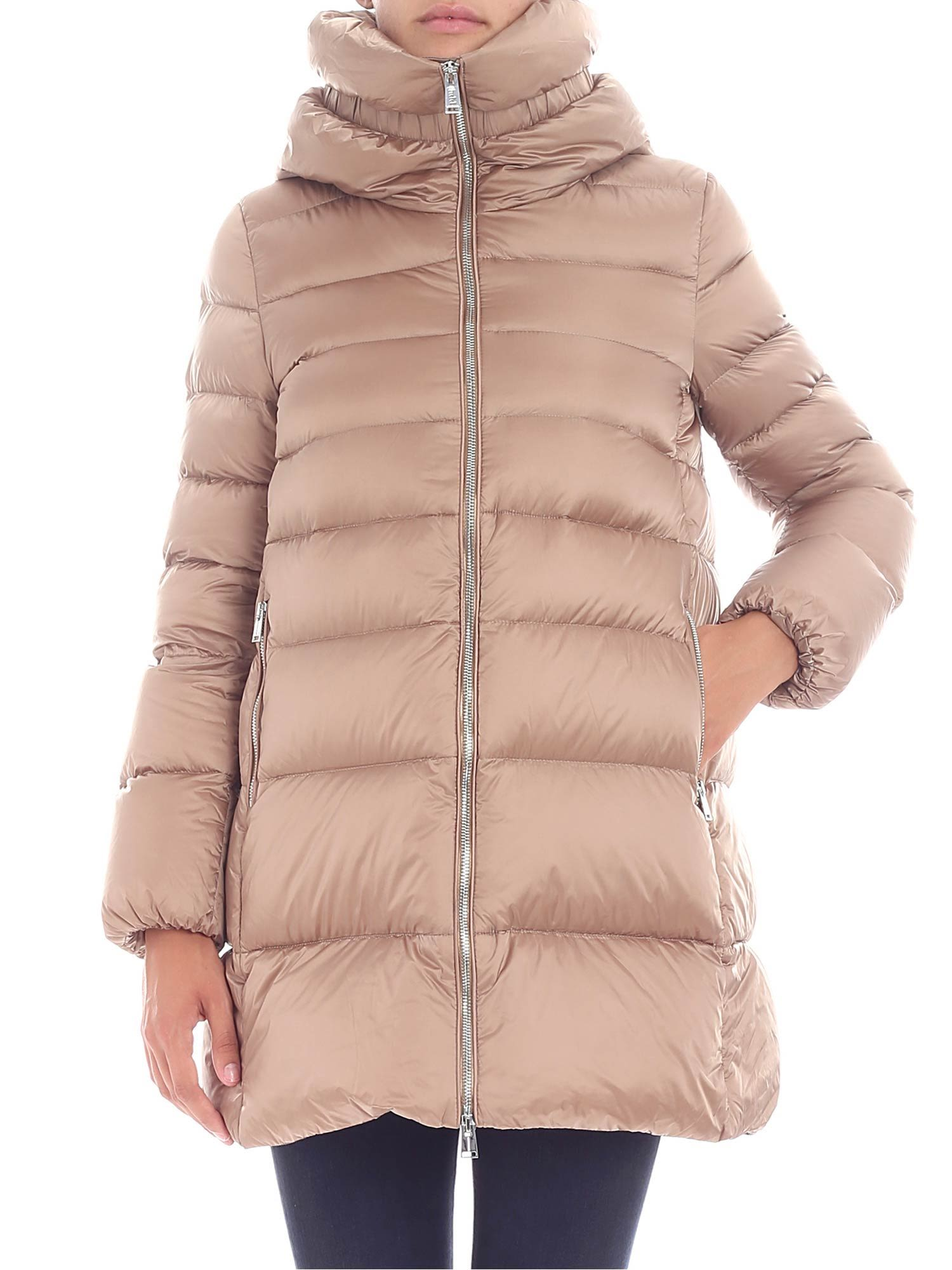 ADD Zipped Padded Jacket in Moka